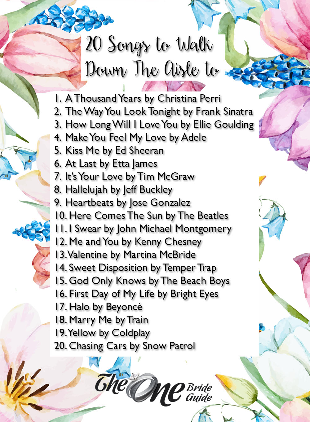 Wedding Songs Walking Down The Aisle: 20 Songs To Walk Down The Aisle To